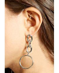 Forever 21 - Metallic Drop Chain Earrings - Lyst