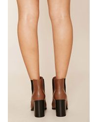 Forever 21   Blue Faux Leather Chelsea Boots   Lyst