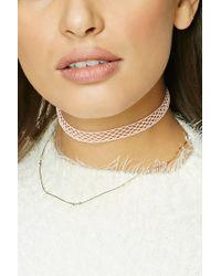 Forever 21 - Metallic Mesh Choker Necklace Set - Lyst