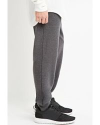 Forever 21 - Gray Drawstring French Terry Joggers for Men - Lyst