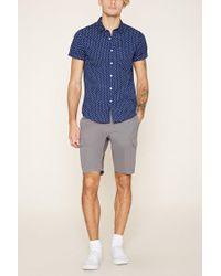 Forever 21 - Blue Paisley Print Shirt for Men - Lyst
