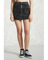 Forever 21 - Black Corduroy Mini Skirt - Lyst