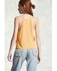 Forever 21 | Yellow Ribbed Knit Cami | Lyst