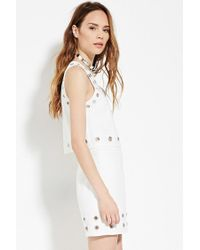 Forever 21 - White Contemporary Boxy Grommet Top - Lyst