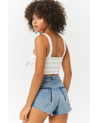 Forever 21 - Multicolor Striped Crop Cami - Lyst