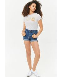 bb3af4381 Forever 21 Sweet Peach Graphic Tee in Blue - Lyst