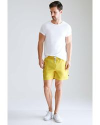 Forever 21 - Yellow Rope-drawstring Swim Trunks for Men - Lyst