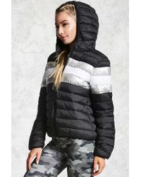 Forever 21 Black Active Puffer Jacket
