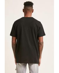 Forever 21 - Black Vented Slub Knit Tee for Men - Lyst