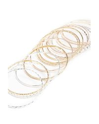 Forever 21 - Metallic Etched & Beaded Bangle Bracelet Set - Lyst