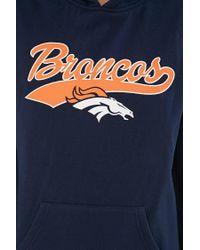 Forever 21 Blue Nfl Broncos Fleece Hoodie