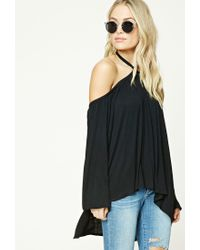 Forever 21 - Black Contemporary Open-shoulder Top - Lyst
