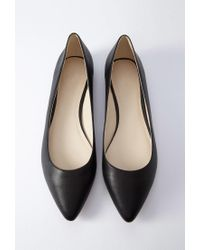Forever 21 - Black Faux Leather Pointed Flats - Lyst