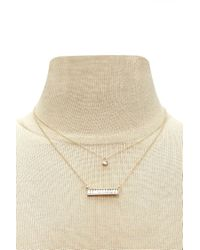 Forever 21 - Multicolor Bar Charm Layered Necklace - Lyst