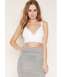 Forever 21 | Blue Textured Crop Top | Lyst