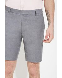 Forever 21 - Gray Textured Woven Shorts for Men - Lyst