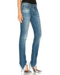 R13 - Blue Kate Skinny With Angled Hem In Branson - Lyst