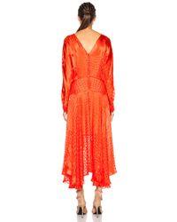 Preen By Thornton Bregazzi - Red Ryde Viscose-Blend Dress - Lyst