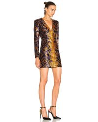 Balmain - Black Snake Print Mini Dress - Lyst
