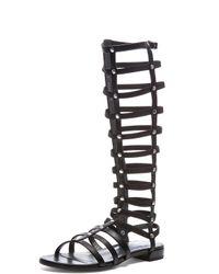 Stuart Weitzman - Black Nappa Leather Gladiator Sandals - Lyst