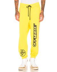 Off-White c/o Virgil Abloh Yellow Off Sweatpants