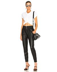 T By Alexander Wang - White High Twist Tee - Lyst