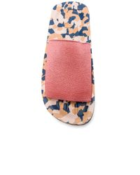 Acne | Pink Elastic Tania Slides | Lyst