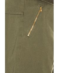 Baja East   Green Cotton Canvas Trousers   Lyst