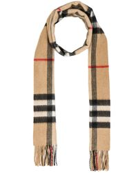 Burberry Prorsum   Natural Giant Check Cashmere Scarf   Lyst