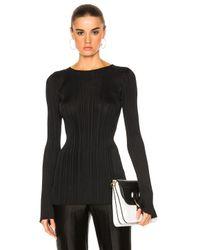 Calvin Klein   Black Elodie Variegated Rib Long Sleeve Tee   Lyst