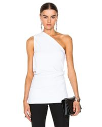 Cushnie et Ochs | White Stretch Cady One Shoulder Top | Lyst