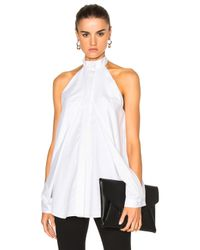 Dion Lee | White Shirting Sleeve Release Top | Lyst