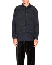 Engineered Garments - Blue Nyco Ripstop Primaloft Vest - Lyst