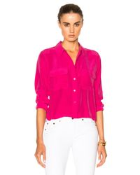 Equipment | Pink Cropped Signature | Lyst