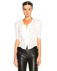 Isabel Marant - Black Qing Silk & Lace Blouse - Lyst