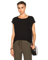 James Perse | Black Circular Shell Top | Lyst