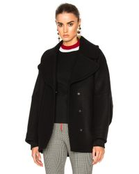 Marni | Black Double Wool Cover Jacket | Lyst