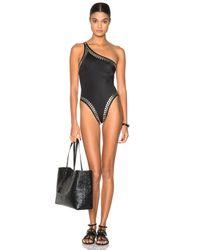 Norma Kamali | Black Stud Mio Swimsuit | Lyst