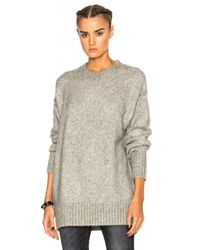 R13 | Gray Oversized Crewneck Sweater | Lyst