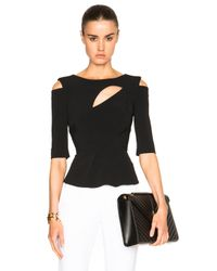 Roland Mouret - Black Bridley Stretch Double Crepe Top - Lyst