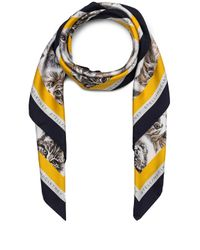 Stella McCartney | White Cat Print Scarf | Lyst