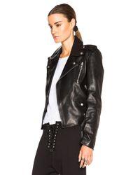 Unravel - Black Lace Up Biker Jacket - Lyst