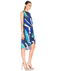 Zimmermann - Blue Esplanade Drape Dress - Lyst