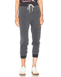 The Great - Gray Cropped Sweat Pant - Lyst
