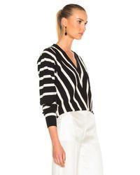 Chloé - Black Sailor Stripe V-neck Sweater - Lyst