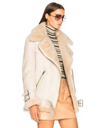 Acne - Natural Velocite Suede Jacket - Lyst