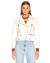 Acne - White Mock Jacket - Lyst