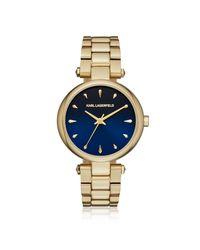 Karl Lagerfeld - Metallic Kl5001 Aurelie Women's Watch - Lyst