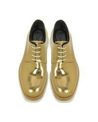 Jil Sander - Multicolor Bronze Leather Platform Oxford Shoe - Lyst