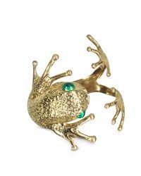 Bernard Delettrez - Metallic Frog Bronze Cuff Bracelet - Lyst